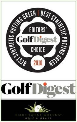 Southwest Greens awarded Golf Digest Editor's Choice for Best Synthetic Putting Green!